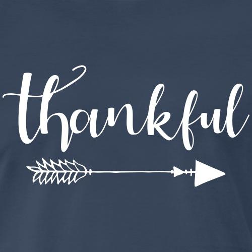 Thankful Grateful Blessed Letter Arrow - Men's Premium T-Shirt