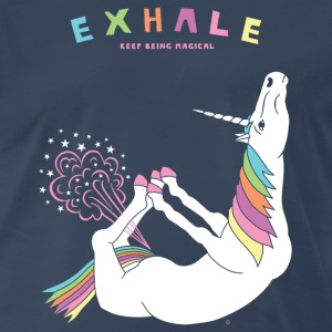 Bow Pose Unicorn Exhale - Men's Premium T-Shirt
