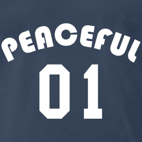 Peaceful 01 - Team Design (White Letters) - Men's Premium T-Shirt