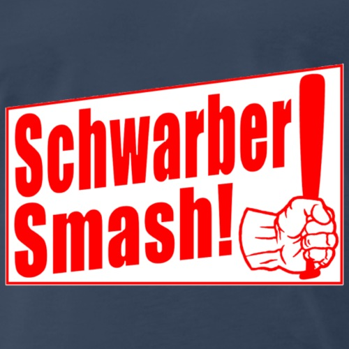 Schwarber Smash Red PNG - Men's Premium T-Shirt