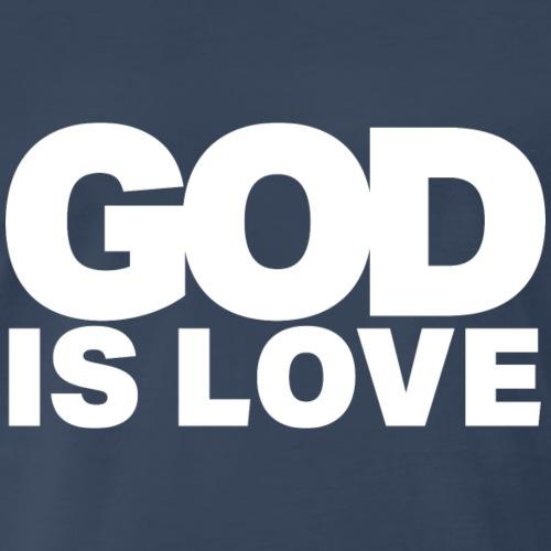 God Is Love - Ivy Design (White Letters) - Men's Premium T-Shirt