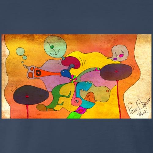 Music of Abstract Art - Men's Premium T-Shirt