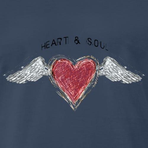 Heart and Soul (c) - by Fanitsa Petrou - Men's Premium T-Shirt