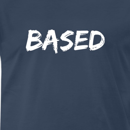 BASED White Logo - Men's Premium T-Shirt