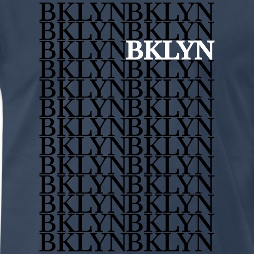 BKLYN Repeat Graphic - Men's Premium T-Shirt