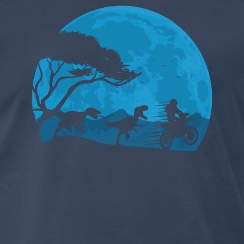 Motorbike And Dino Moonwalk - Men's Premium T-Shirt