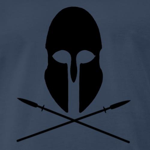 Greek Helmet and Crossed Spears - Men's Premium T-Shirt