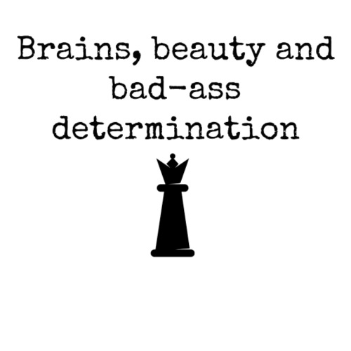 Brains, beauty and badass determination - Men's Premium T-Shirt
