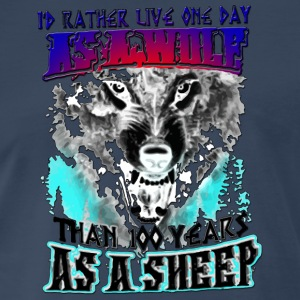 AS A WOLF - Men's Premium T-Shirt