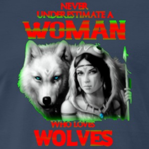 WOLVES AND WOMAN - Men's Premium T-Shirt