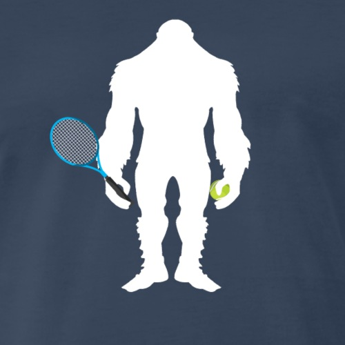 Bigfoot Tennis Player Funny Sasquatch Gift - Men's Premium T-Shirt