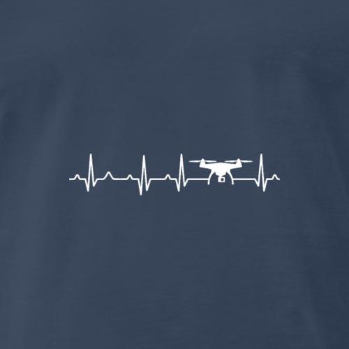 Drone Heartbeat x Frequency - Men's Premium T-Shirt