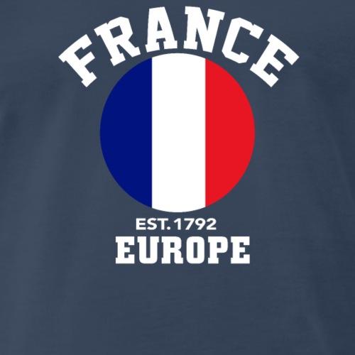 France Europe Est 1792 Patriotic Flag T Shirt Cla - Men's Premium T-Shirt