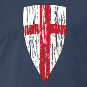 Crusader Shield Flag - Men's Premium T-Shirt