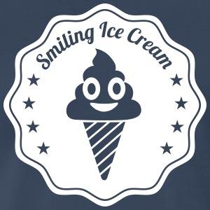Smiling Ice Cream Batch - Men's Premium T-Shirt