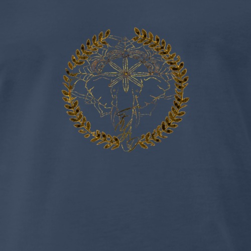 Colorful_mandala_elephant_logo - Men's Premium T-Shirt