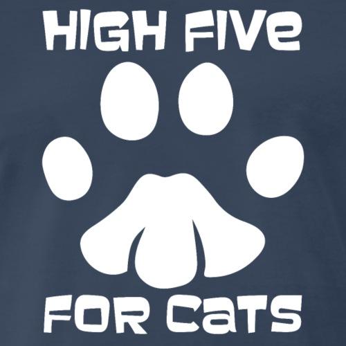 High five cats T Shirt Design for Men's & Women's - Men's Premium T-Shirt