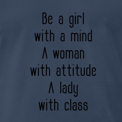A woman with attitude - Men's Premium T-Shirt