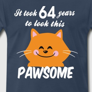 It took 64 years to look this pawsome - Men's Premium T-Shirt