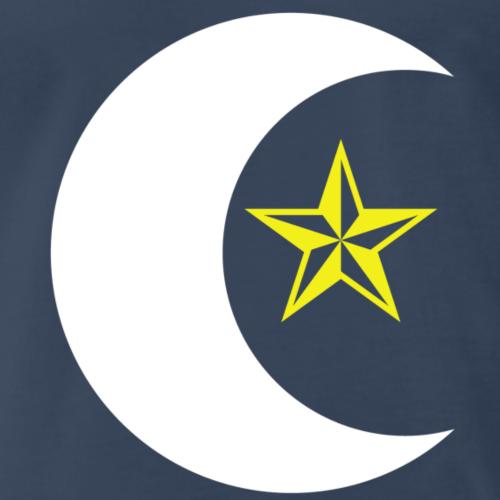 Crescent Fly Star (Wht) - Men's Premium T-Shirt