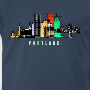 Portland city skyline - Men's Premium T-Shirt