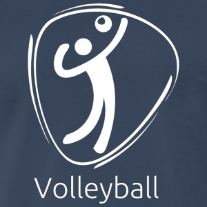 Volleyball_white - Men's Premium T-Shirt