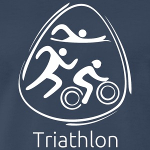 Triathlon_white - Men's Premium T-Shirt