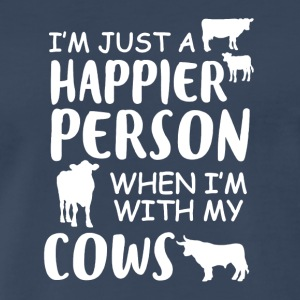 Happy With My Cows Tee Shirt - Men's Premium T-Shirt