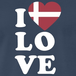 I love Denmark - Men's Premium T-Shirt