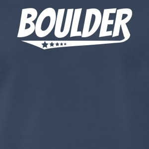 Boulder Retro Comic Book Style Logo - Men's Premium T-Shirt