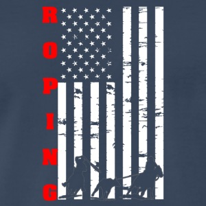 Roping Flag Tee Shirt - Men's Premium T-Shirt
