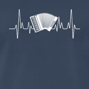Accordion Heartbeat Shirt - Men's Premium T-Shirt