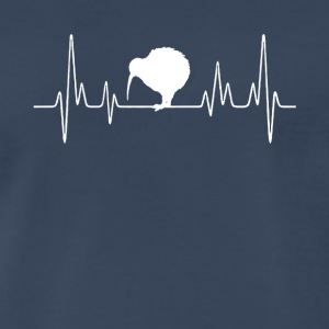 Kiwi Bird Heartbeat Shirts - Men's Premium T-Shirt