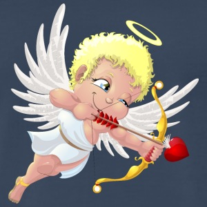 cupid-wings-heart-bow-smile - Men's Premium T-Shirt