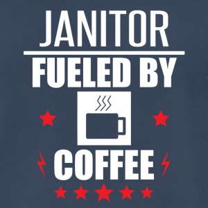 Janitor Fueled By Coffee - Men's Premium T-Shirt