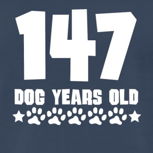 147 Dog Years Old Funny 21st Birthday - Men's Premium T-Shirt