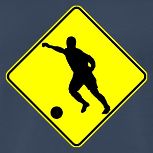 Soccer Player Crossing Sign - Men's Premium T-Shirt