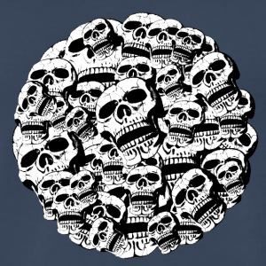 skulls in a round frame - Men's Premium T-Shirt