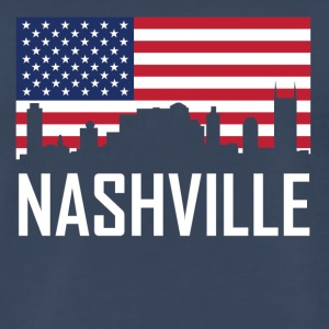 Nashville Tennessee Skyline American Flag - Men's Premium T-Shirt