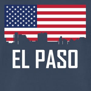 El Paso Texas Skyline American Flag - Men's Premium T-Shirt