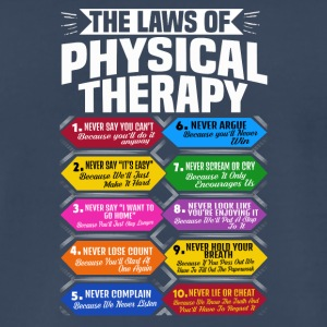 The Laws Of Physical Therapy Awesome Therapist - Men's Premium T-Shirt