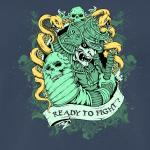 SKULL SAMURAI READY TO FIGHT - Men's Premium T-Shirt