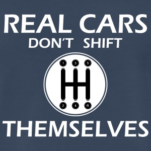 real cars don't shift themselves - Men's Premium T-Shirt