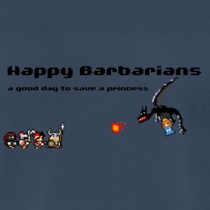 Happy Barbarians - a good day to save a princess - Men's Premium T-Shirt