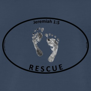 Oval_feet_sticker_no_background - Men's Premium T-Shirt