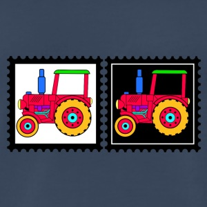 stamps with tractors - Men's Premium T-Shirt