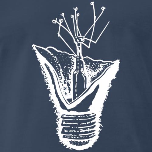 Broken Lightbulb (White) - Men's Premium T-Shirt