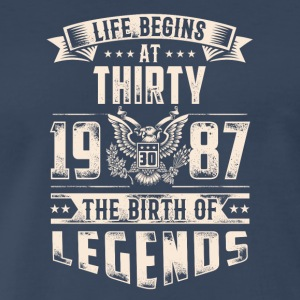Life Begins at Thirty Legends 1987 for 2017 - Men's Premium T-Shirt