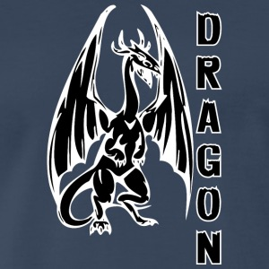 Dragon_with_long_wings_black - Men's Premium T-Shirt