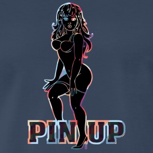 surprised_naked_pinup_girl_black - Men's Premium T-Shirt